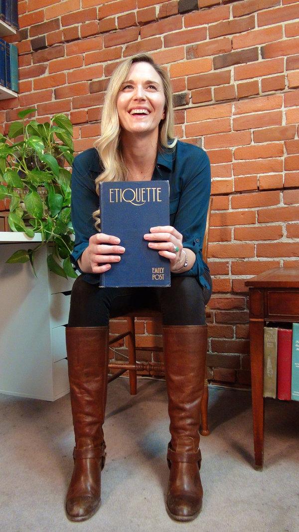 "Lizzie Post, author of ""Higher Etiquette."""