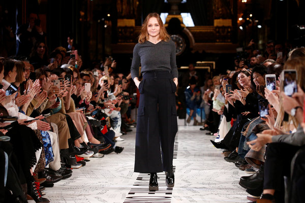 Stella McCartney at her fall 2019 women's show in Paris.