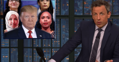 Late Night Backs Up 'the Squad' After Trump's Accusatory Tweets