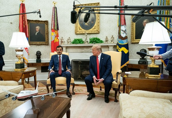 President Trump welcomed Qatar's emir, Sheikh Tamim bin Hamad al-Thani, to the White House this month.