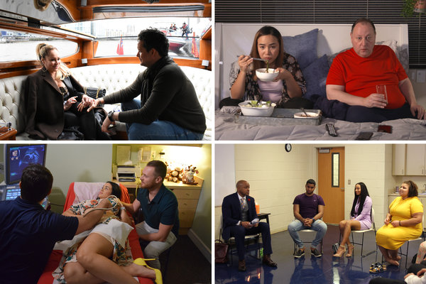"The original ""90 Day Fiancé"" has spawned six spinoffs, including (clockwise from top left) ""90 Day Fiancé: Before the 90 Days,"" ""90 Day Fiancé: Pillow Talk,"" ""The Family Chantel,"" and ""90 Day Fiancé: Happily Ever After?"""