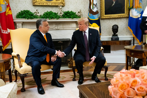 President Trump with Prime Minister Viktor Orban of Hungary in the Oval Office in May.