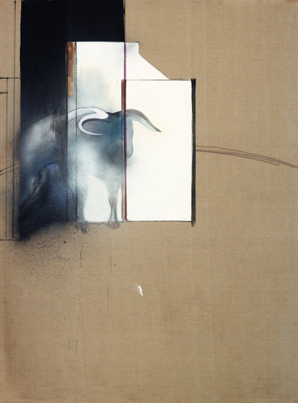 """""""Study of a Bull"""" (1991), from a year before the painter's death."""