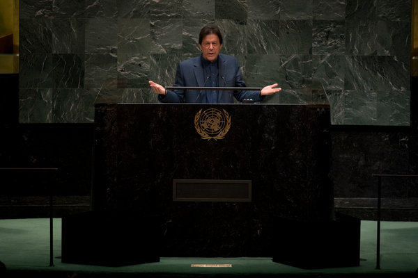 Mr. Khan of Pakistan castigated his Indian counterpart, Narendra Modi, during a speech at the United Nations General Assembly on Friday.