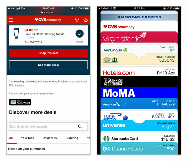 "You can add coupons, boarding passes, tickets and other cards to your device by tapping the ""add to wallet"" button included in confirmation or receipt messages."