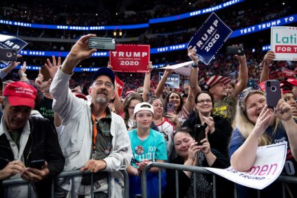 Supporters of Mr. Trump at the rally.