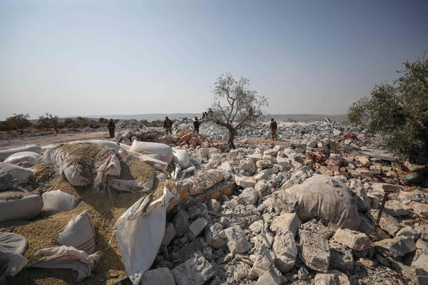 The site of a raid near Barisha, Syria, that was said to have resulted in the death of Abu Bakr al-Baghdadi, the leader of the Islamic State.