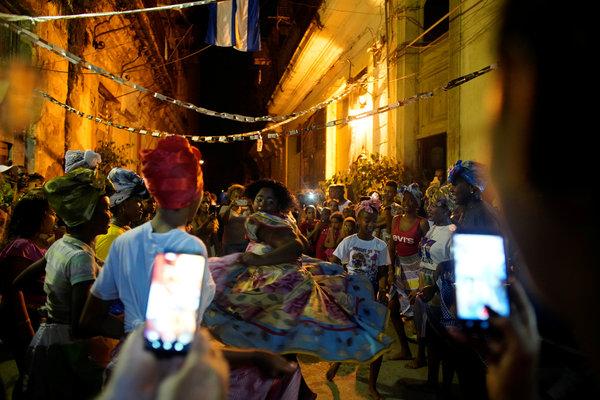 Celebraciones en La Habana durante el aniversario de los Comités de Defensa de la Revolución (CDR), en septiembre de 2019
