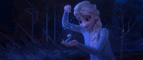 Elsa en haar nieuwe vuurvriendje in Frozen 2