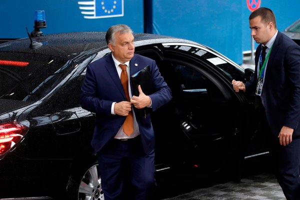 Prime Minister Viktor Orban of Hungary arriving at the European Union headquarters in Brussels in October.