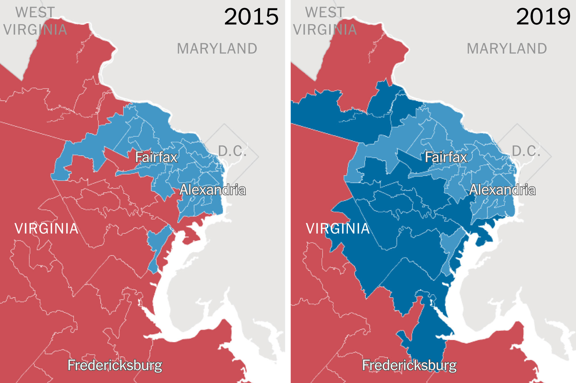 How Voters Turned Virginia From Deep Red To Solid Blue The New York Times
