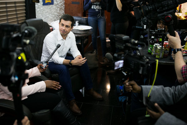 Mayor Pete Buttigieg of South Bend, Ind., has struggled to receive support from black voters.