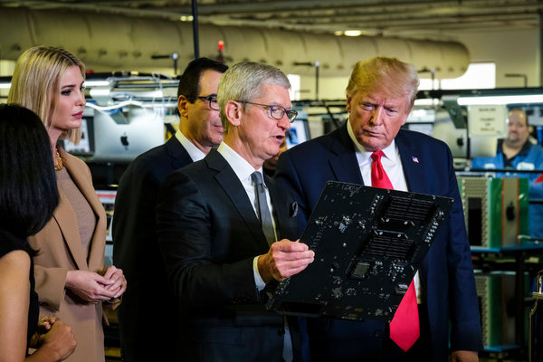 Cloud Computing: Apple's chief executive, Tim Cook, knew what he was dealing with last week when President Trump visited a factory that makes Apple computers.