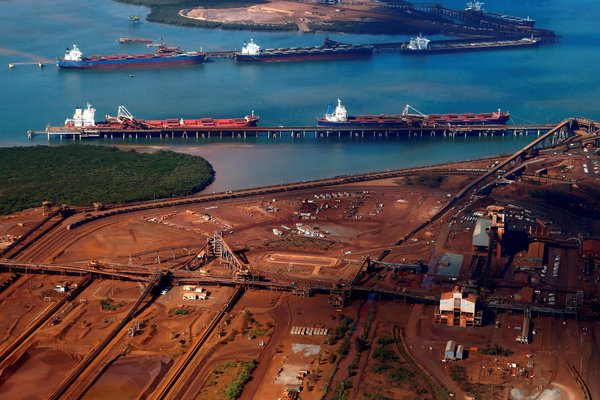 Iron ore is Australia's biggest export to China.