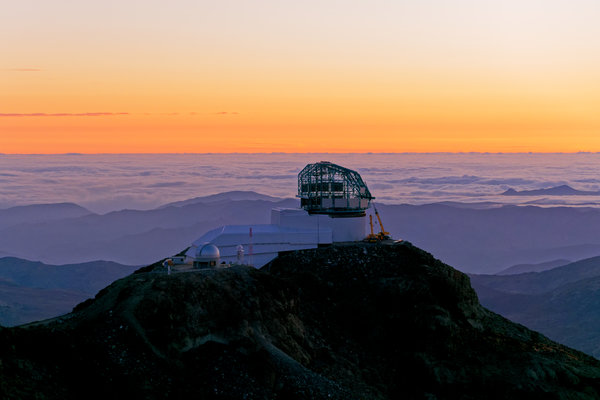 Construction on the Large Synoptic Survey Telescope in Cerro Pachón, Chile, in September.
