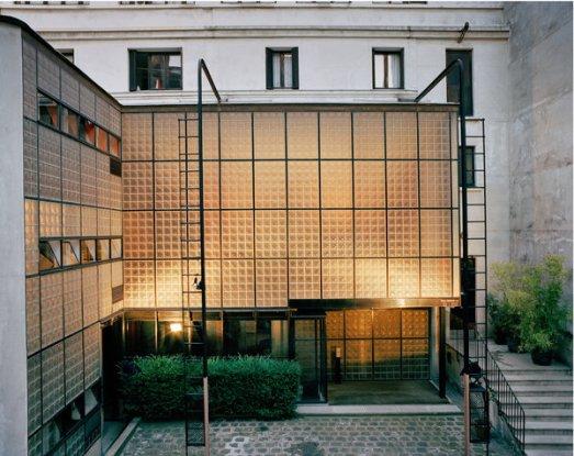 The exterior of the Maison de Verre in Paris, photographed in 2005.