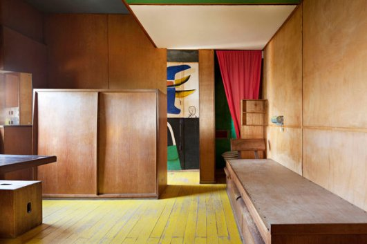 Le Corbusier's Le Cabanon in Côte d'Azur, France, photographed in 2015.
