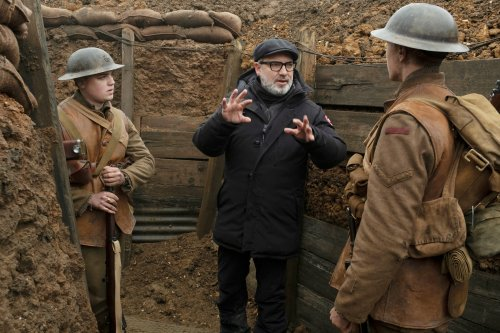 Sam Mendes na planie filmu