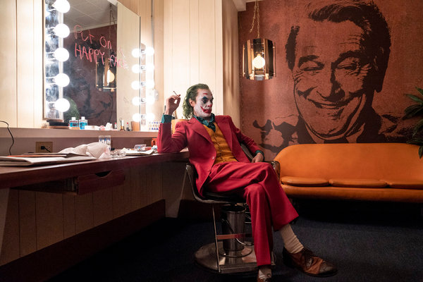 """Joaquin Phoenix in """"Joker,"""" which led the Academy Award contenders with 11 nominations, including best picture."""
