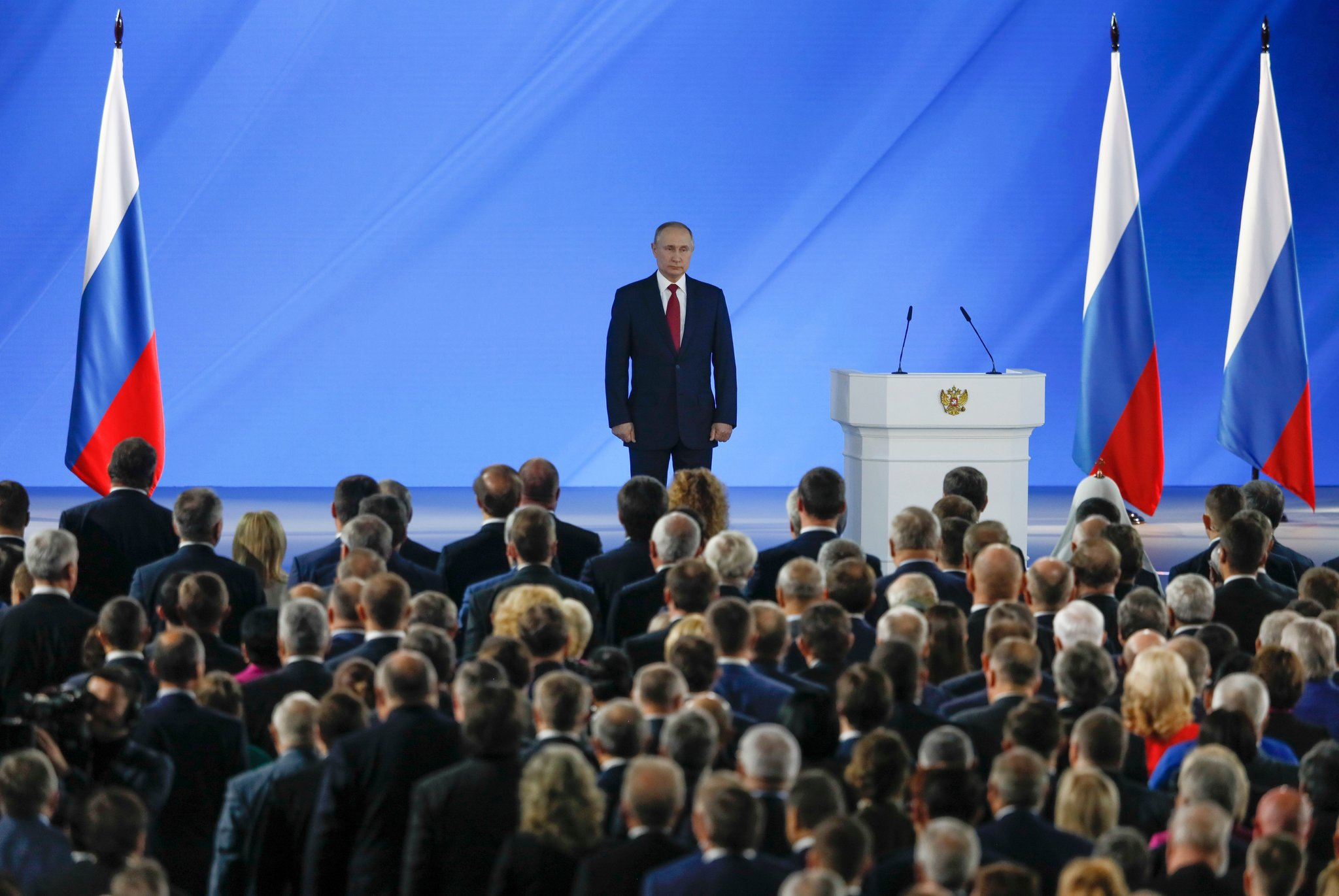 Mr. Putin delivered his annual state of the nation address in Moscow on Wednesday. He described the proposed constitutional changes as an effort to enhance democracy.