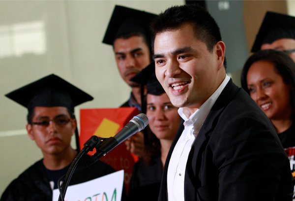 """The language we use determines the nature of the conversation,"" said Jose Antonio Vargas, who immigrated to the San Francisco Bay Area in 1993."
