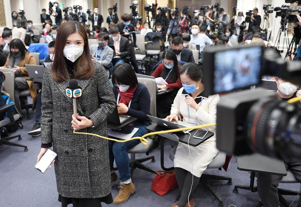 上個月,在北京的記者。