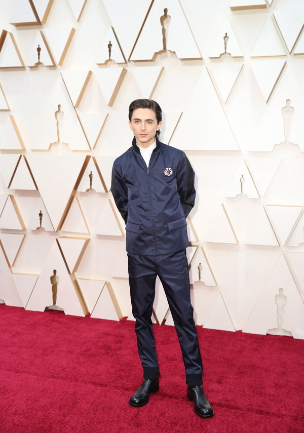 Mr. Chalamet at the Oscars tonight.