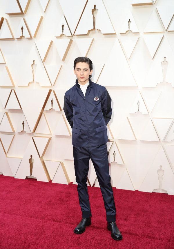 Mr. Chalamet at the Oscars tonight.