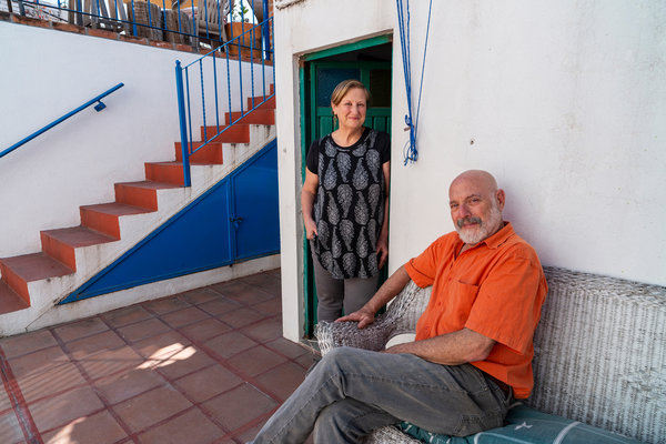 "Lee Duberman and Richard Fink at their home in San Miguel de Allende, Mexico. The couple, former restaurateurs in Vermont, ""saw the writing on the wall"" after the 2016 U.S. presidential election and decided to make a life elsewhere."