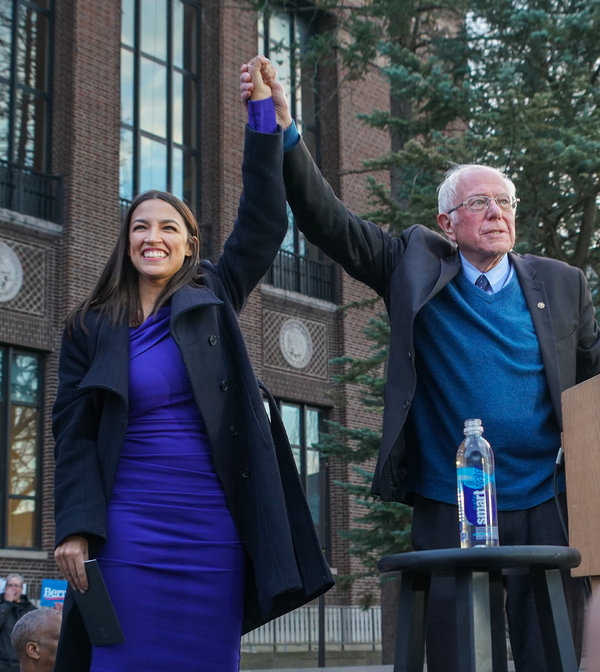 The endorsement of Representative Alexandria Ocasio-Cortez of New York jump-started Mr. Sanders's campaign just as it appeared on the brink of collapse last year.