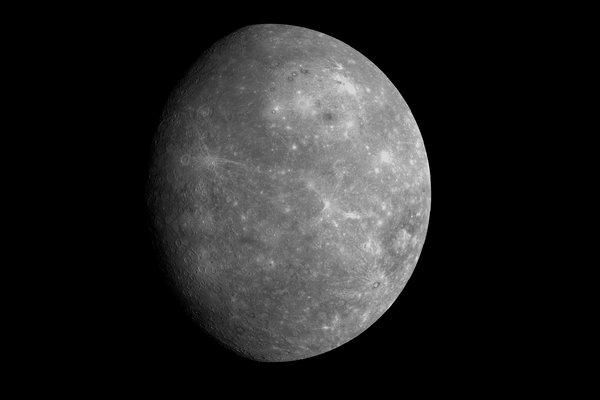 """The study theorizes that the """"chaotic terrain"""" on Mercury's surface was formed by activity underneath the planet's barren, scorched exterior, and not a collision."""