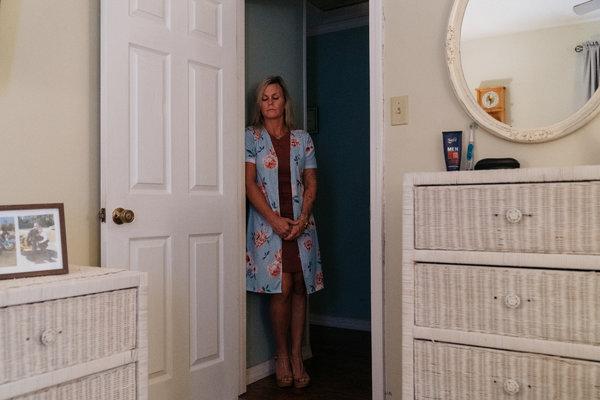 Harmony Rust-Bodke, Ryan's sister, in his bedroom.