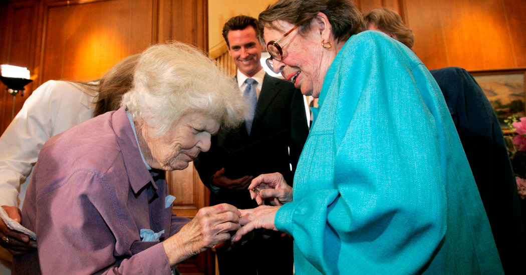 Phyllis Lyon, Lesbian Activist and Gay Marriage Trailblazer, Dies at 95