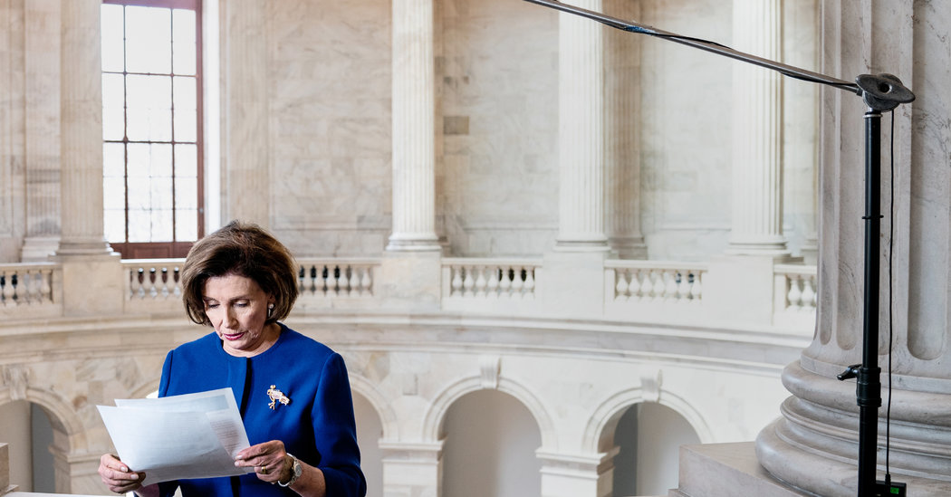 Live From Her Kitchen, Pelosi Works to Counter Trumps Coronavirus Show