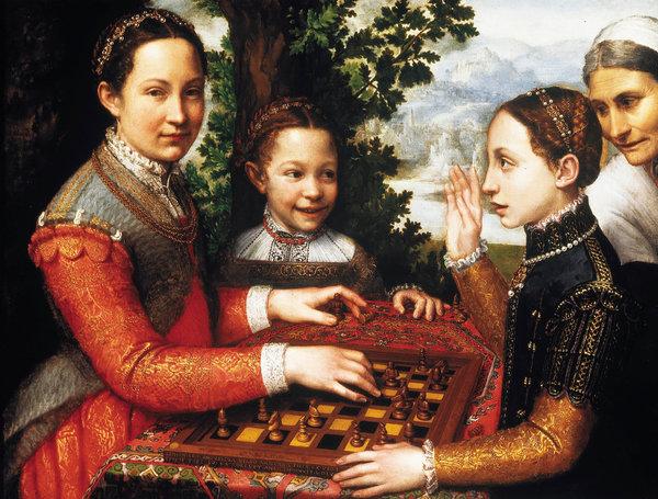 Sofonisba Anguissola, «The Chess Game», 1555. Un portrait des sœurs de l'artiste jouant aux échecs dans l'Italie du XVIe siècle.