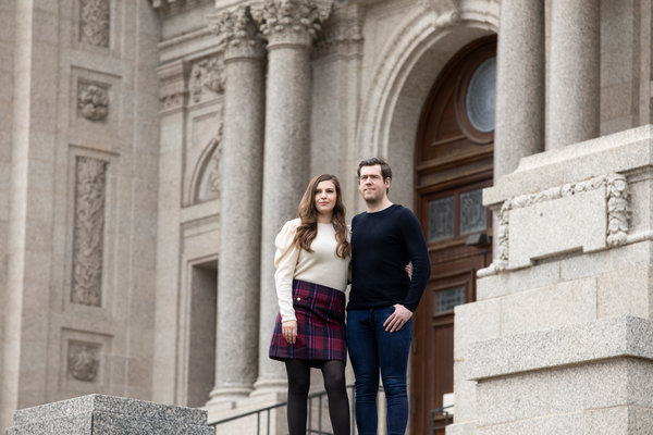 Andrew Jenkins and Krista York of Minnesota were set to marry on Aug. 22 at the majestic Cathedral of St. Paul. Then the coronavirus struck and Mr. Jenkins, who is British, lost his job as a market research analyst.