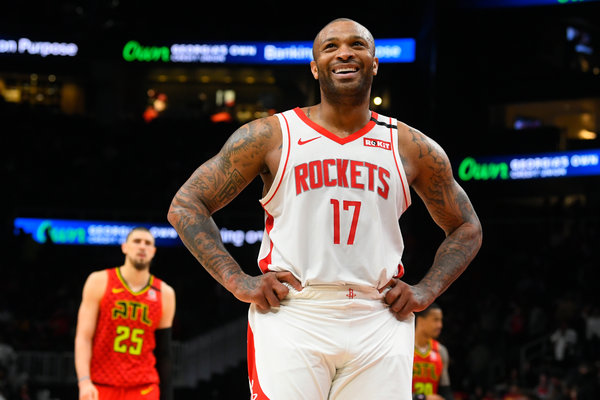 """It's very challenging. That's why there's only a few that do it,"" said Houston Rockets forward P.J. Tucker, 35, who hasn't missed a game since 2017."