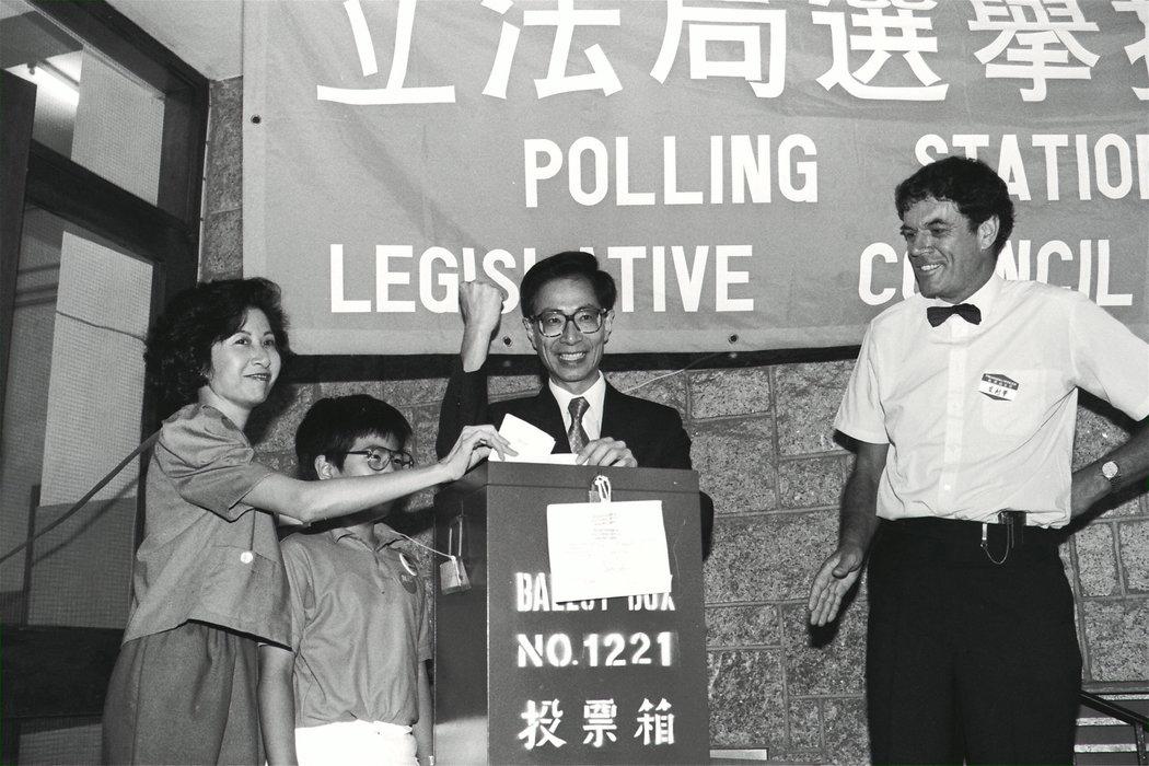 李柱铭在1991年投票。