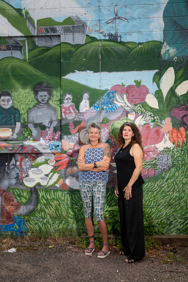 Dawn Drouillard and Eden Fitzgerald, co-owners of Fabulous Catering, which is closing due to the pandemic, are hoping to find a way for people of color to acquire their building.
