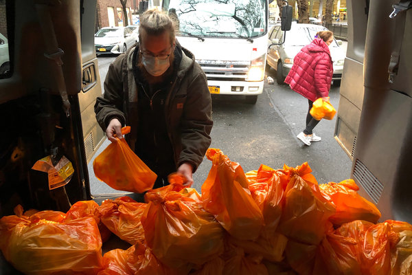 The Rev. Andrew Marko converted Evangel Church in Queens into a clearinghouse for donated food.