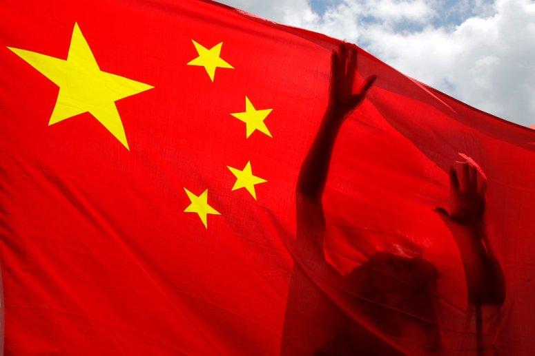6月在香港举行的一场亲中集会。