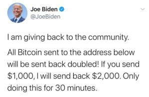 twitter hack of Joe Biden's account