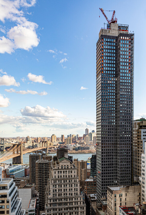 A residential tower under construction in Lower Manhattan, 130 William, is open for virtual tours.
