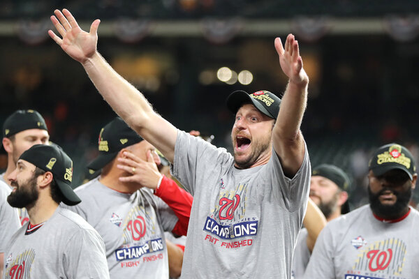 Scherzer finally got to celebrate a World Series title last October.