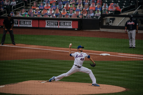Jacob deGrom was his usual dominant self in his first start of the season.