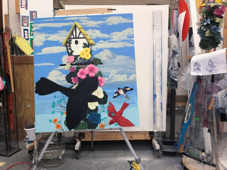 Kerry James Marshall's Black Birds Take Flight in a New Series -Omenka Online