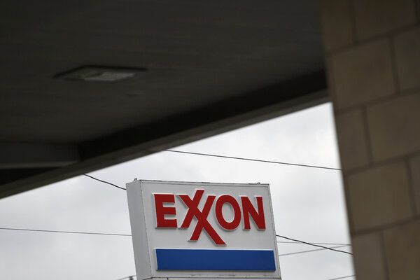 An Exxon gas station is seen in Houston, Texas, U.S., April 30, 2019.