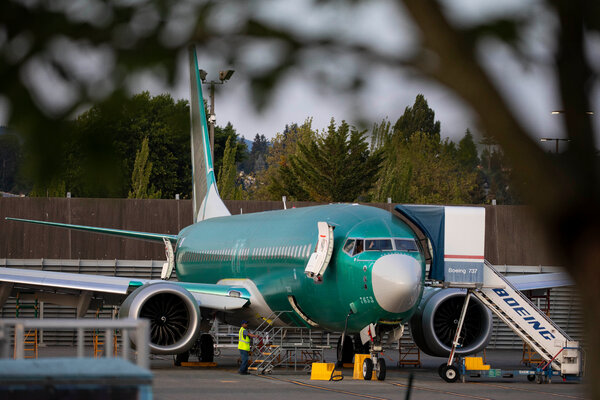 A Boeing 737 Max at the Boeing plant in Renton, Wash. The plane could start flying again by the end of the year.
