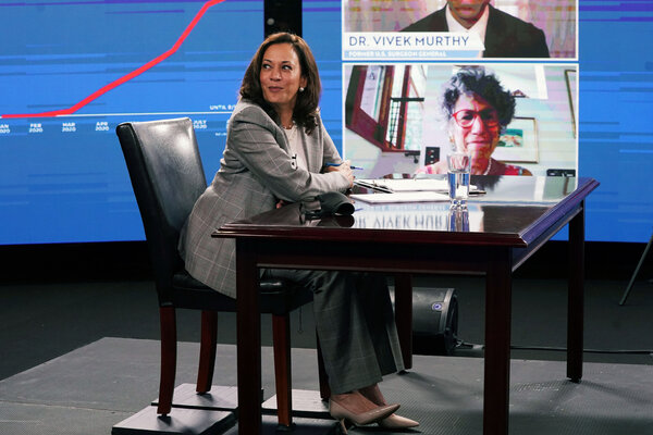 Senator Kamala Harris in Wilmington, Del., on Thursday. Her record as a prosecutor has drawn scrutiny.
