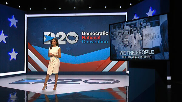 Eva Longoria hosted the first night of the virtual Democratic National Convention.